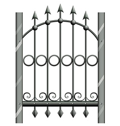 A steel gate vector