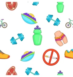 Active lifestyle pattern cartoon style vector image