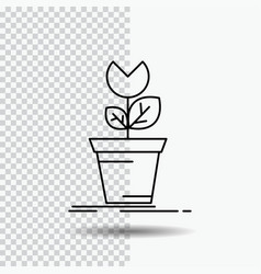 Adventure game mario obstacle plant line icon on vector