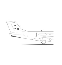 Airplane tail vector