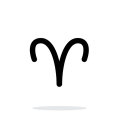 Aries zodiac icon on white background vector image