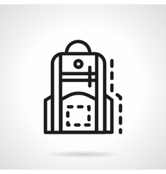Backpack for school simple line icon vector image