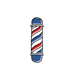 Barber pole doodle icon vector
