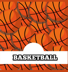 basketball balls sport background design vector image