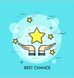 best chance thin line concept vector image