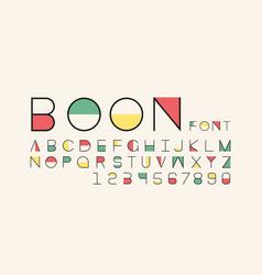 Boon color font alphabet vector