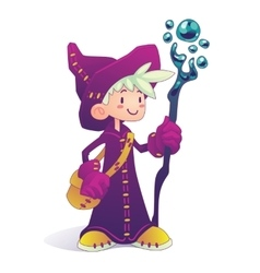 Cartoon mage character vector