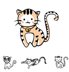 cat collection set vector image
