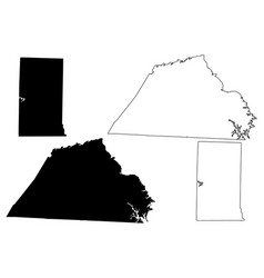 Catawba and alamance county north carolina state vector