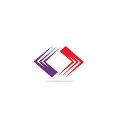 circle shape colored business logo vector image