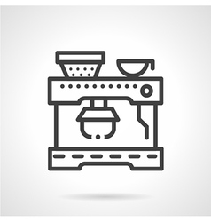 Coffee machine simple line icon vector image