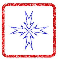 compress arrows grunge framed icon vector image