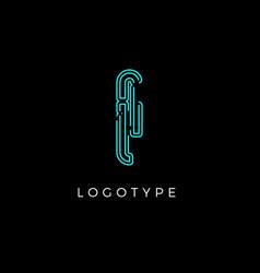 Cyber letter i for digital technology logo concept vector
