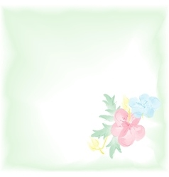 Digital watercolor background with flowers Gentle vector image