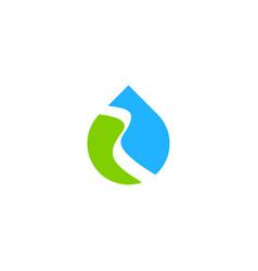 droplet bio ecology nature water logo vector image