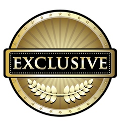 Exclusive Gold Label vector image