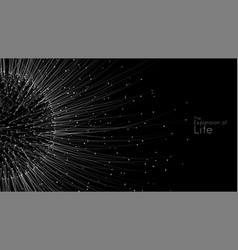 expansion life sphere explosion vector image