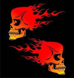 Flaming skulls vector