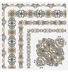 Floral vintage frame design se vector