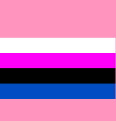 gender fluid symbol people flat icon vector image