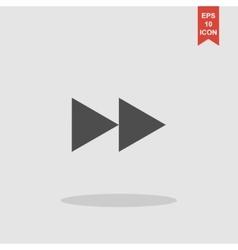 Glossy multimedia icon forward vector image