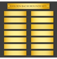 Golden Backgrounds set vector image