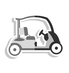 Golf cart vehicle equipment vector