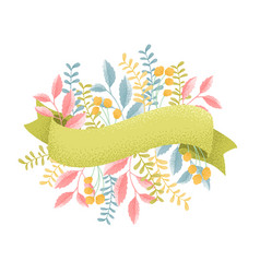 graine ribbons and flowers vector image
