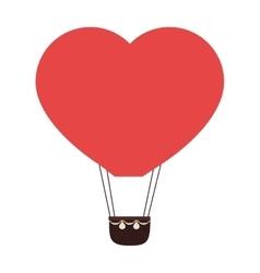 Heart balloon hot love icon vector