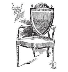 Hepple white arm chair vintage vector