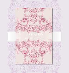 Invitation card royal victorian pattern vector