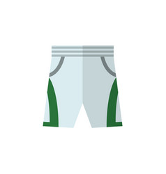 isolated shorts flat icon trunks cloth vector image