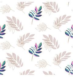 lavender plant leaf seamless pattern vector image
