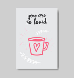 love greeting card happy valentines day concept vector image