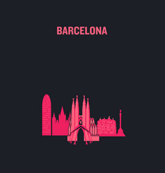 made with icons barcelona vector image