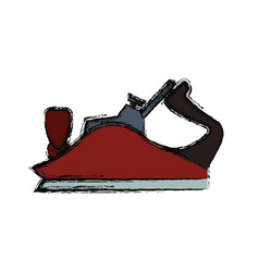metal smoothing plane carpentry tool vector image