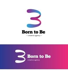 Modern creative b letter logo gradient vector