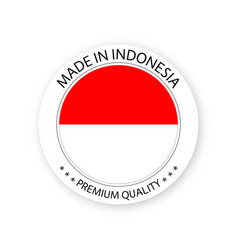 Modern made in indonesia label vector