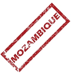 New Mozambique rubber stamp vector