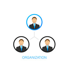 Organization chart organizational structure vector