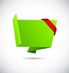Origami green wallpaper vector image