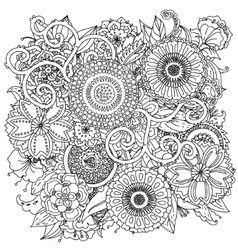 Pattern for coloring book vector