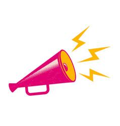 pink megaphone vector image