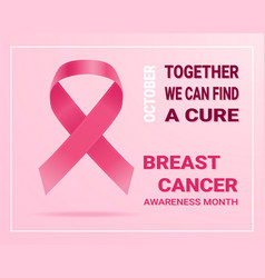 pink ribbon concept for breast cancer day vector image