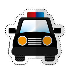 Police patrol car icon vector