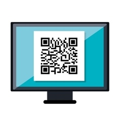 Quick response code isolated icon vector