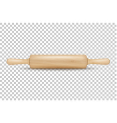 realistic 3d wooden rolling pin icon vector image