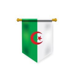 Realistic national algeria flag mockup for design vector