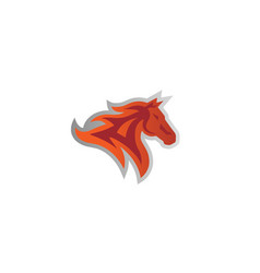 red horse fire logo vector image