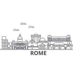 Rome architecture line skyline vector